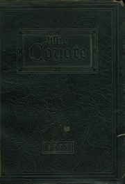 Twin Falls High School - Coyote Yearbook (Twin Falls, ID) online yearbook collection, 1927 Edition, Cover