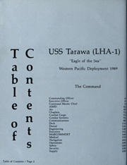 Page 6, 1989 Edition, USS Tarawa (LHA 1) - Naval Cruise Book online yearbook collection