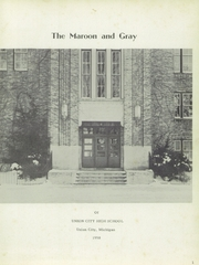 Union City High School - Maroon and Gray Yearbook (Union City, MI) online yearbook collection, 1958 Edition, Page 5
