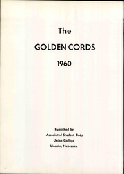Page 10, 1960 Edition, Union College - Golden Cords Yearbook (Lincoln, NE) online yearbook collection