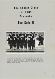 Union High School - Gold U Yearbook (Dugger, IN) online yearbook collection, 1985 Edition, Page 5 of 104