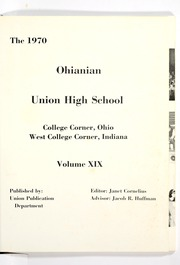 Union High School - Ohianian Yearbook (College Corner, OH) online yearbook collection, 1970 Edition, Page 5