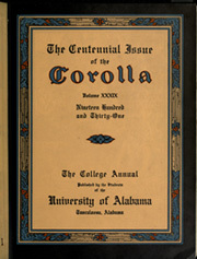 Page 7, 1931 Edition, University of Alabama - Corolla Yearbook (Tuscaloosa, AL) online yearbook collection