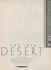 University of Arizona - Desert Yearbook (Tucson, AZ) online yearbook collection, 1935 Edition, Page 4