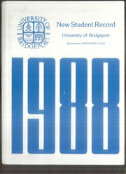 University of Bridgeport - Wistarian Yearbook (Bridgeport, CT) online yearbook collection, 1988 Edition, Cover