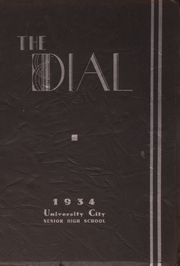 University City High School - Dial Yearbook (University City, MO) online yearbook collection, 1934 Edition, Cover