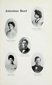 Page 15, 1909 Edition, University of Colorado - Coloradan Yearbook (Boulder, CO) online yearbook collection