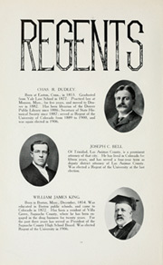 Page 16, 1909 Edition, University of Colorado - Coloradan Yearbook (Boulder, CO) online yearbook collection