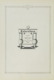 Page 6, 1920 Edition, University of Colorado - Coloradan Yearbook (Boulder, CO) online yearbook collection