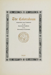 Page 7, 1920 Edition, University of Colorado - Coloradan Yearbook (Boulder, CO) online yearbook collection