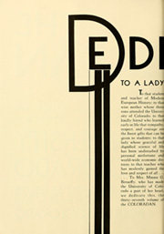 Page 10, 1935 Edition, University of Colorado - Coloradan Yearbook (Boulder, CO) online yearbook collection