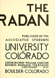 Page 9, 1935 Edition, University of Colorado - Coloradan Yearbook (Boulder, CO) online yearbook collection