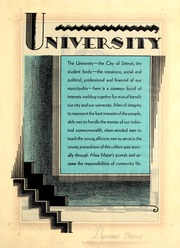 Page 13, 1931 Edition, University of Detroit - Tower Yearbook (Detroit, MI) online yearbook collection