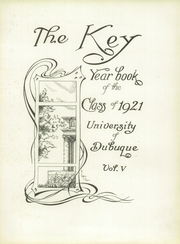 Page 7, 1921 Edition, University of Dubuque - Key Yearbook (Dubuque, IA) online yearbook collection