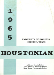 University of Houston - Houstonian Yearbook (Houston, TX) online yearbook collection, 1965 Edition, Page 5