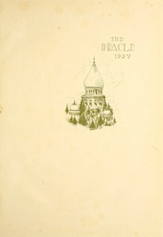 University of Indianapolis - Oracle Yearbook (Indianapolis, IN) online yearbook collection, 1927 Edition, Page 5