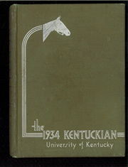 University of Kentucky - Kentuckian Yearbook (Lexington, KY) online yearbook collection, 1934 Edition, Cover