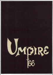 University of Maine at Portland - Umpire Yearbook (Portland, ME) online yearbook collection, 1966 Edition, Cover