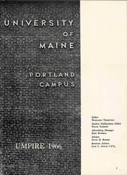 Page 7, 1966 Edition, University of Maine at Portland - Umpire Yearbook (Portland, ME) online yearbook collection