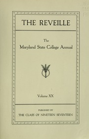 Page 9, 1917 Edition, University of Maryland College Park - Terrapin / Reveille Yearbook (College Park, MD) online yearbook collection