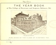 Page 7, 1909 Edition, University of Maryland School of Medicine - Terrae Mariae Medicus (Baltimore, MD) online yearbook collection