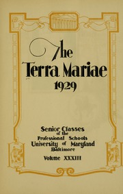 Page 11, 1929 Edition, University of Maryland School of Pharmacy - Terra Mariae Yearbook (Baltimore, MD) online yearbook collection