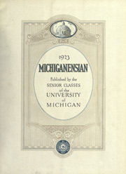 University of Michigan - Michiganensian Yearbook (Ann Arbor, MI) online yearbook collection, 1923 Edition, Page 5