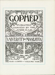 Page 15, 1910 Edition, University of Minnesota - Gopher Yearbook (Minneapolis, MN) online yearbook collection
