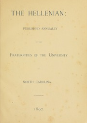 Page 7, 1892 Edition, University of North Carolina Chapel Hill - Yackety Yack Yearbook (Chapel Hill, NC) online yearbook collection