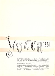 Page 7, 1951 Edition, University of North Texas - Yucca Yearbook (Denton, TX) online yearbook collection