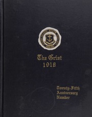 University of Rhode Island - Grist Yearbook (Kingston, RI) online yearbook collection, 1918 Edition, Cover