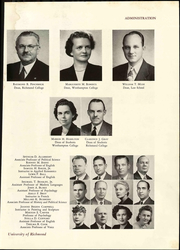 Page 17, 1949 Edition, University of Richmond - Web Yearbook (Richmond, VA) online yearbook collection
