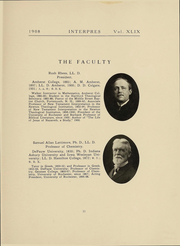 Page 15, 1908 Edition, University of Rochester - Interpres Yearbook (Rochester, NY) online yearbook collection