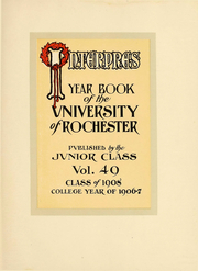 Page 8, 1908 Edition, University of Rochester - Interpres Yearbook (Rochester, NY) online yearbook collection