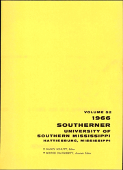 Page 7, 1966 Edition, University of Southern Mississippi - Southerner Yearbook (Hattiesburg, MS) online yearbook collection