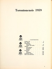 Page 7, 1959 Edition, University of Toronto - Torontonensis Yearbook (Toronto, Ontario Canada) online yearbook collection