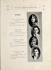 Page 17, 1929 Edition, University of West Georgia - Chieftain Yearbook (Carrollton, GA) online yearbook collection