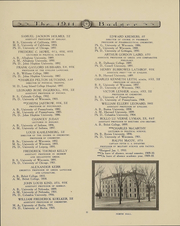Page 15, 1911 Edition, University of Wisconsin Madison - Badger Yearbook (Madison, WI) online yearbook collection