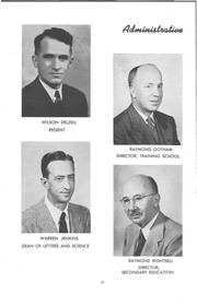 Page 12, 1952 Edition, University of Wisconsin Stevens Point - Horizon / Iris Yearbook (Stevens Point, WI) online yearbook collection