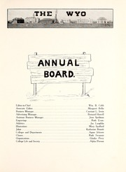 Page 11, 1915 Edition, University of Wyoming - WYO Yearbook (Laramie, WY) online yearbook collection