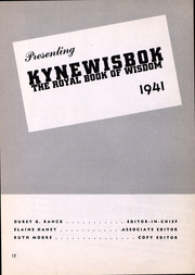 Page 12, 1941 Edition, University of Denver - Kynewisbok Yearbook (Denver, CO) online yearbook collection