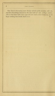 Page 12, 1869 Edition, University of Massachusetts Amherst - Index Yearbook (Amherst, MA) online yearbook collection