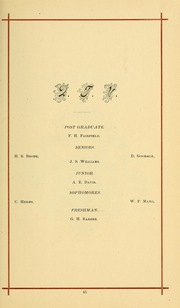University of Massachusetts Amherst - Index Yearbook (Amherst, MA) online yearbook collection, 1883 Edition, Page 59 of 140