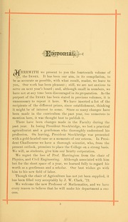 University of Massachusetts Amherst - Index Yearbook (Amherst, MA) online yearbook collection, 1884 Edition, Page 19 of 126