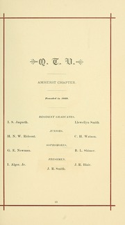 University of Massachusetts Amherst - Index Yearbook (Amherst, MA) online yearbook collection, 1887 Edition, Page 47