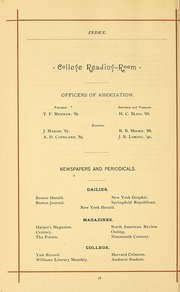 University of Massachusetts Amherst - Index Yearbook (Amherst, MA) online yearbook collection, 1888 Edition, Page 104