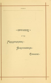 University of Massachusetts Amherst - Index Yearbook (Amherst, MA) online yearbook collection, 1888 Edition, Page 33