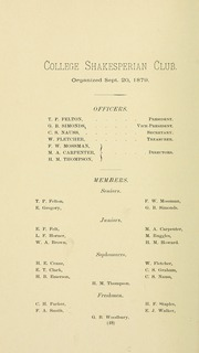 University of Massachusetts Amherst - Index Yearbook (Amherst, MA) online yearbook collection, 1891 Edition, Page 76