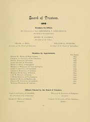 Page 17, 1896 Edition, University of Massachusetts Amherst - Index Yearbook (Amherst, MA) online yearbook collection