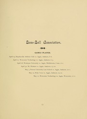 University of Massachusetts Amherst - Index Yearbook (Amherst, MA) online yearbook collection, 1896 Edition, Page 87 of 236